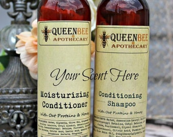 YOU CHOOSE SCENT- Conditioning Shampoo & Moisturizing Conditioner Set - 8 Ounce