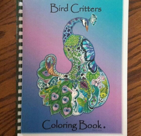 Animal Spirit coloring book by Sue Coccia Bird critters suitable for watercolor