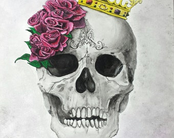 Skull with a Crown