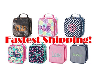 Monogrammed Lunch Box - Kids Lunch Box - Lunch Bag - Back to School