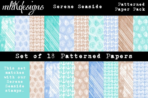 Serene Seaside Patterned Paper Pack