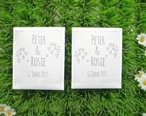 doodle custom wedding favour tea bag pack of 10