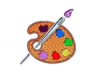 Painters Palette Embroidery Design