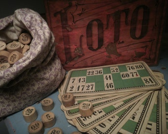 Vintage French Loto Game
