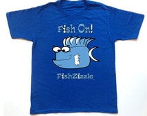 FishZizzle FISH ON KidsT Shirt Youth Sea Life Funny Fish Kids T-shirt Kids Shirt Unisex T-shirt Cute Fish Tee Fish T-shirt Kids T Shirts