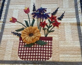 Grandma's Flower Basket  -Wall Hanging