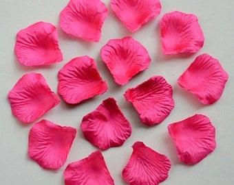 1000 pcs Fuchsia Rose Petals Bulk Silk Rose Petals Artificial Flower Petals For Wedding Party Decor