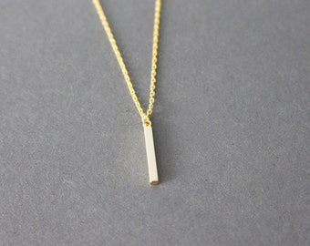 little vertical bar necklace - minimal