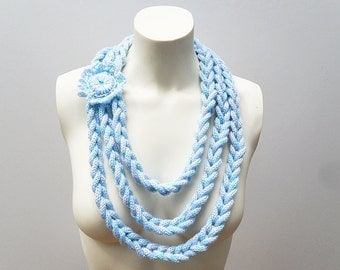 Knit / I-Cord Necklace