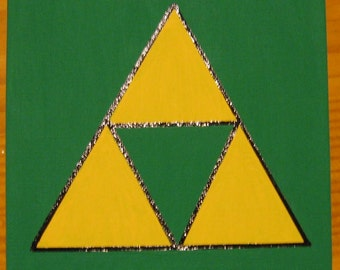 "Legend of Zelda Tri Force Canvas Art Picture 6""x6"""