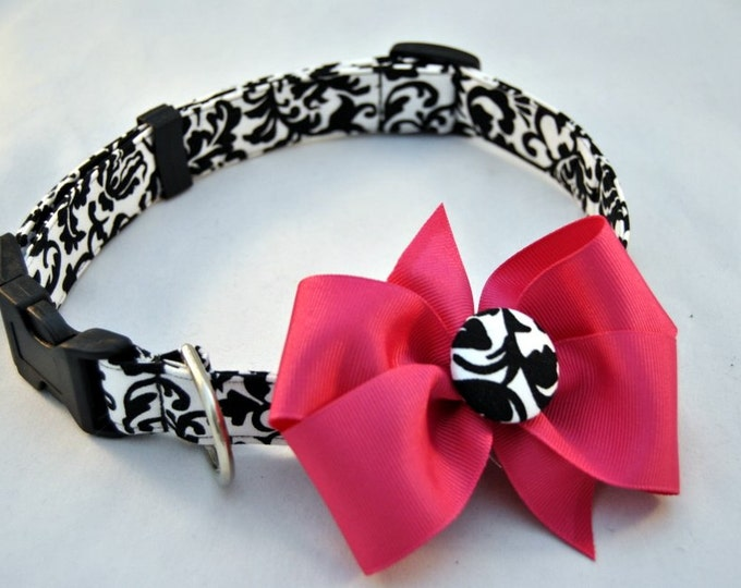 Damask Collar with Bow