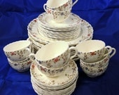 46 Piece Wicker Dale Copeland Spode -  10 Four Piece Place Settings