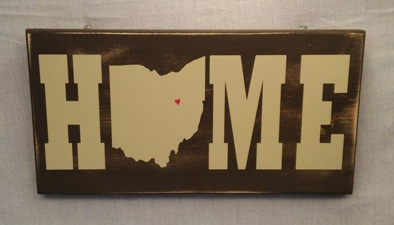 Home State Sign Custom Sign Ohio Sign Christmas Gifts State Signs