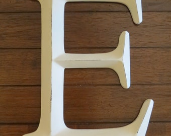 Letter E / Pick Your Own Letter/ Wall Letter/ Creamy White or Pick Color/ Wall Decor / Mantle Decor / Office Nursery Wall Letters