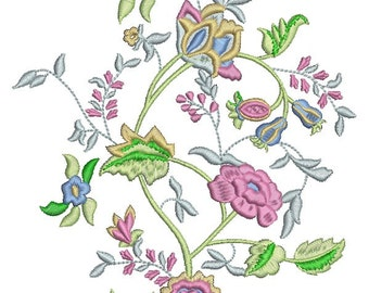 a bouquet of flowers - the Buckingham motive  - Machine Embroidery designs