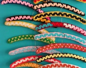 Set of 20 vintage funky kitschy crochet retro  Clothes Coat Hangers Shop Display 1960s 1970s