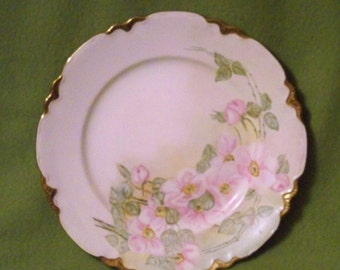 Homer Laughlin Scalloped Edge Floral Pattern Plate