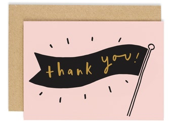 Thank You Banner Card - thank you greeting card - CC78