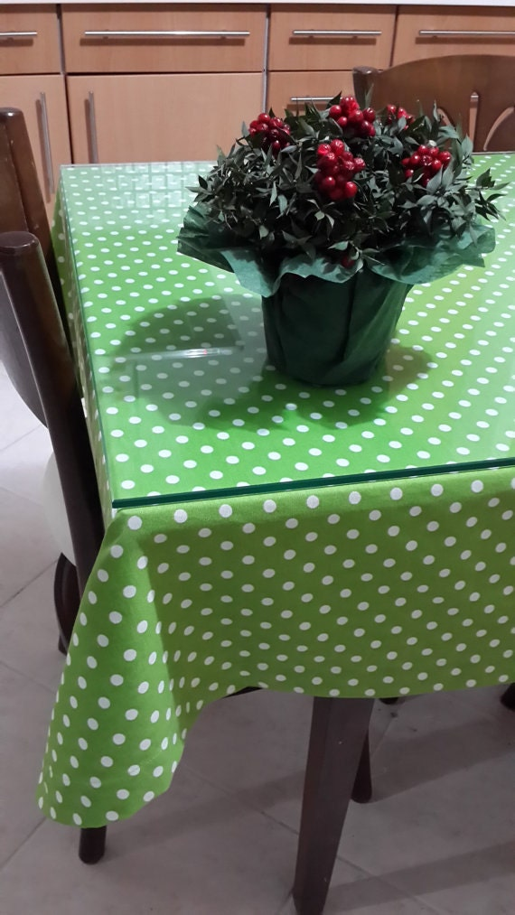 Green Polka Dot Tablecloth Red Polka Dot Tablecloth Duck Linen Square  Rectangle Tablecloth Red White Polka Dot Kitchen Table Cloth Christmas