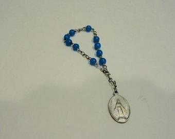 Aluminum Pocket Rosary Catholic Medal