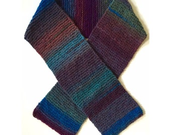 Warm Knit Colorful Scarf