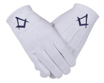 Freemasons Masonic Cotton Gloves in Royal Blue S&C