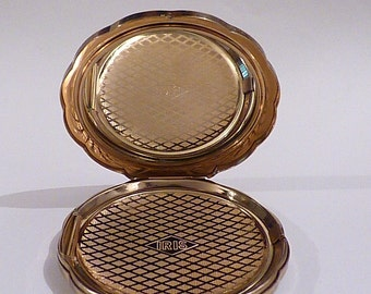 Vintage compacts IRIS CLAMSHELL compact mirrors vintage powder compacts bridesmaids maid of honor / honour wedding gifts for her