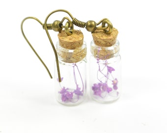 Earring Bottle Flower