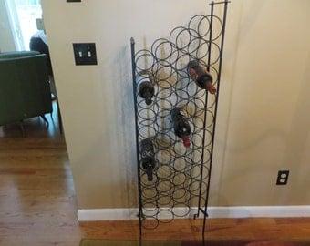 Vintage Rod Iron Wine Bottle Holder