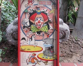 Vintage Gotham Circus Trix G128 Pin Ball Machine made in the USA