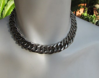 Stainless steel Choker collar Necklace Chain Heavy Erco Punk Rock