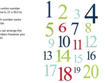 Numbers Wall Decal, Nursery Wall Decal, Number Wall art, Number Decal, All