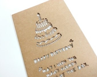 Lovely Happy Birthday Card with Envelope