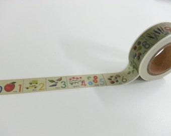 Number Washi / Masking Tape - 10M