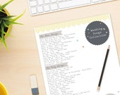 Wedding Timeline Planner - Wedding Planner - Printable Planner / Organiser - Instant Download / Digital