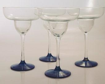 Hand Painted Margarita Glasses, set of 4