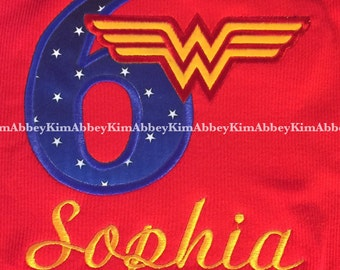 Wonder Woman  shirt age name