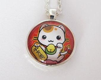 Cute Maneki Neko Pendant Calico cat