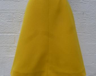 Yellow skirt womens handmade clothing 60s skirt ladies vintage clothing hippie skirt festival sunflower yellow clothes ecofriendly skirt uk
