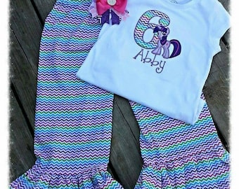 My little poney embroidered outfit