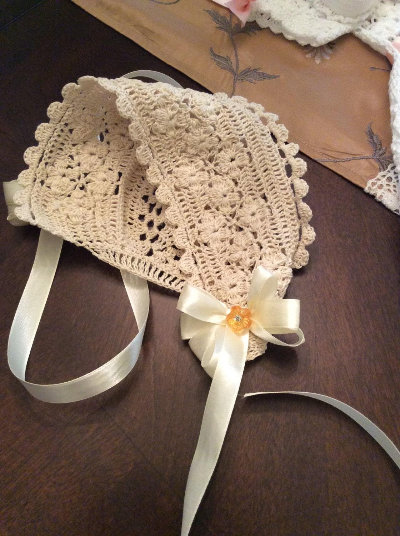 Field Of Flowers Crochet Christening Bonnet Pdf Pattern Baby