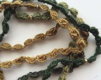 FOREST Crocheted Necklace, Bracelet, 27 /  D / 60