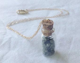Pyrite Cork Bottle Necklace