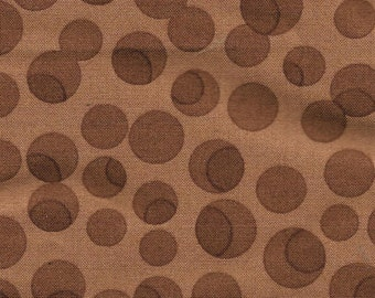 Fat Quarter Tweet Tweet By Keiki Moda Fabric Cotton Quilting Cloth 18 x 22 inch Brown Polka Dots Modern Quilting Craft Supply Rare OOP