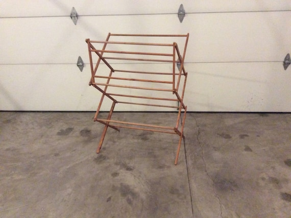 vintage wood clothes drying rack