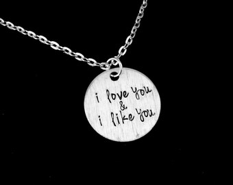 I Love You & I Like You Parks and Recreation Inspired Charm Necklace