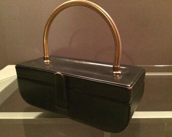 Vintage Black evening purse clutch by Waldman