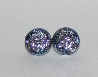 Simply Silver Dichroic Glass Post Earrings