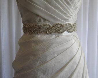 Wedding Dress Sash / Belt - Rhinestone
