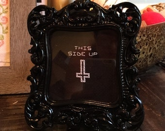 This Side Up - Cross Stitch